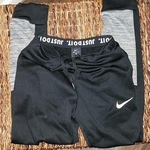 Nike black gray jogger pants size large